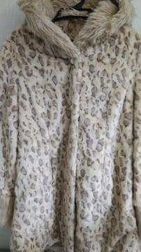 豹柄ビッグフード姫袖ファーコート◆ゴスロリ大きいサイズ◆18日迄コート限定セット割