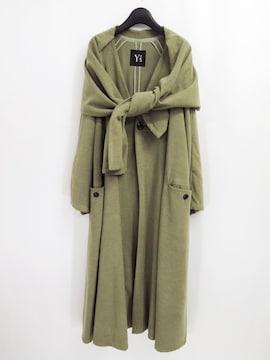 70s Y's ワイズ オーバーサイズ ウール ストール ロング コート ヨウジヤマモト ビンテージ