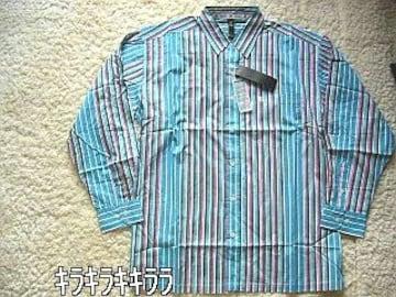 【MAKAVELI】《New》HipHop系★レインボー*ストライプシャツ