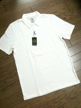 新品HARE デザインポロシャツ ホワイト ハレ