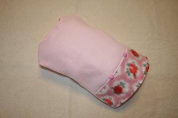 花柄スカートフリースワンピース胴40cm(ピンク)