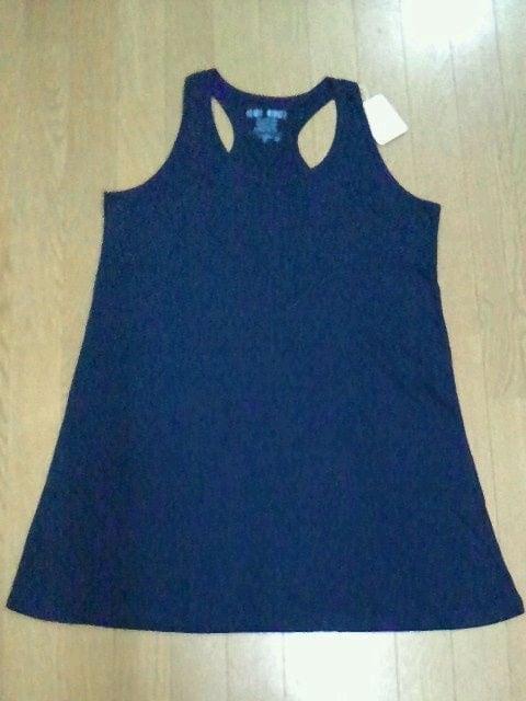 HEARTMARKET ハートマーケット 2点セット ロングタンクワンピース紺 クルーネック半袖Tシャツ < ブランドの