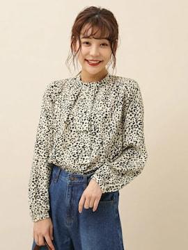 ☆ELENCARE DUE/レオパードボータイブラウス☆