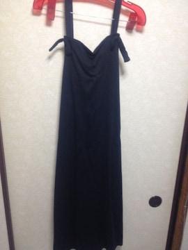 マタニティロングワンピース・ブラック・美品