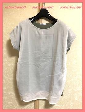 ☆美品☆シフォンコンビ透かしロゴドルマンTシャツLL☆
