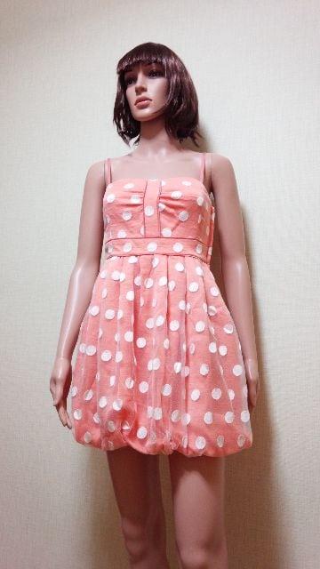 新品タグ付☆Yoko.Morimoto☆水玉バルーンのドレス☆3点で即落☆ < 女性ファッションの