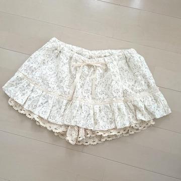 レース スカート ショートパンツ キュロットスカート