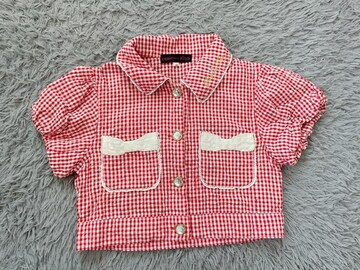 女の子★ショート丈 半袖シャツ 130