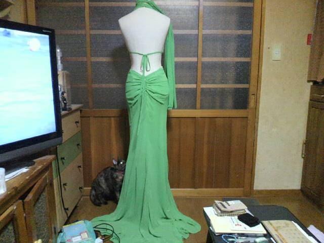 CINDERELLAキャバ グリーン セクシーロング高級ドレス < 女性ファッションの