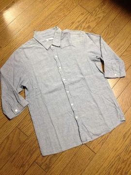 美品HARE 7分丈シャンブレーシャツ ハレ