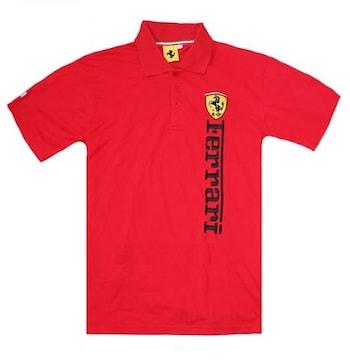 1セール!  フェラーリ ロゴ  ポロシャツ レッド XL f184