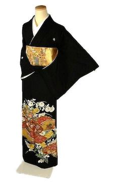 【最高級】新品同様 彩密友禅作家【や万本遊幾】黒留袖 T2207
