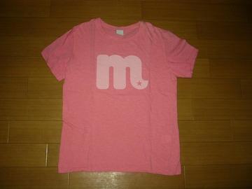 M エム クルーネックTシャツ L ピンク系 mロゴ LOGO TMT
