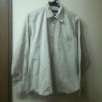 BENO★used★メンズ隠しボタンシンプルシャツMベージュ