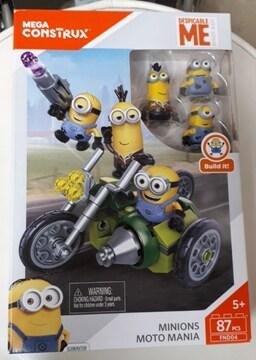 新品メガブロックミニオンズオートバイマニア