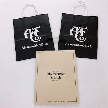 ◆Abercrombie & Fitch/アバクロ◆定番紙袋3枚セット★プレゼント包装
