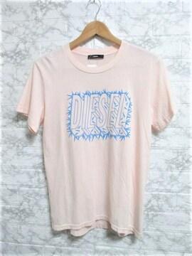 ☆DIESEL ディーゼル ビッグロゴ プリント Tシャツ 半袖/メンズ/S