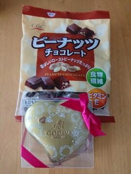 GODIVAとピーナッツチョコレート