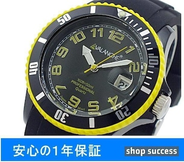 送料無料 新品■ アバランチ 腕時計 AV-1019S-BKY-40//00002238