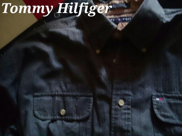 【Tommy Hilfiger】Vintage Washed ボタンダウンシャツ L/ヘリンボーン織 < ブランドの