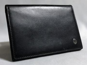 正規 Cartierカルティエ パシャ 2Cロゴカードケース 黒×シルバー名刺入れ パスケース
