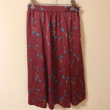 AGアクアガールフラワーお花柄サテンマキシロングスカート