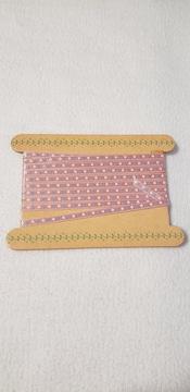 細め手芸テープ 4.5ミリ幅 198cm ピンク地にフラワープリント 小物雑貨の飾り