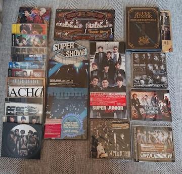 送料無料 SUPER JUNIOR 初回限定盤CD DVD&ライヴDVDまとめて