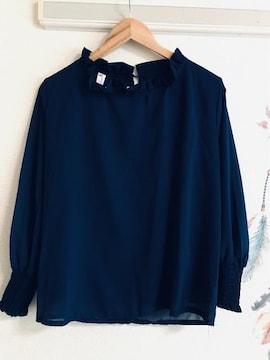 新品薄手袖シースル涼しげなシフォン.可愛いデザインのブラウス