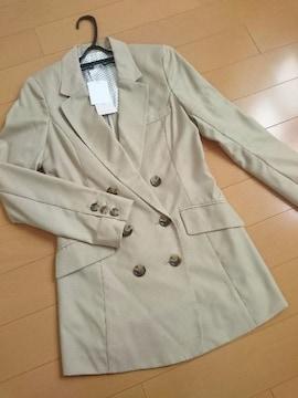 人気完売★バイバイ★ダブルジャケット ベージュ/M 新品タグ付 ByeBye 春物