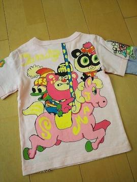 中古メリーゴーランド七分Tシャツ110ピンクJAM