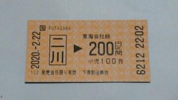 二川駅【2並び2尽くし】乗車券