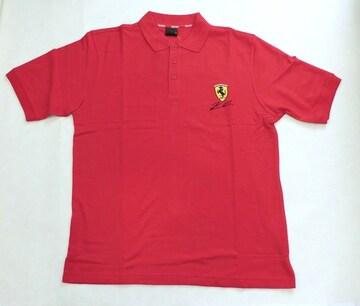 1セール! フェラーリ ロゴ  赤ポロシャツ M  f163