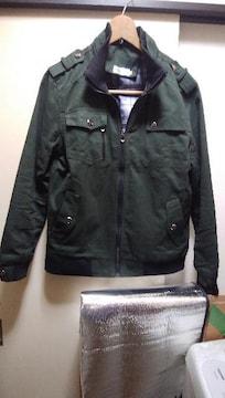 ミリタリージャケット   超カッコいいミリタリーグリーンXL
