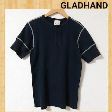 GLADHAND グラッドハンド ヘンリーネック サーマル Tシャツ S ワッフル