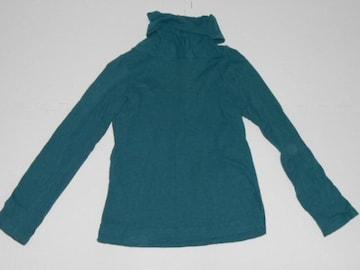 衣類 レディース Mサイズ タートルネック 長袖トップス 緑 h.s.n