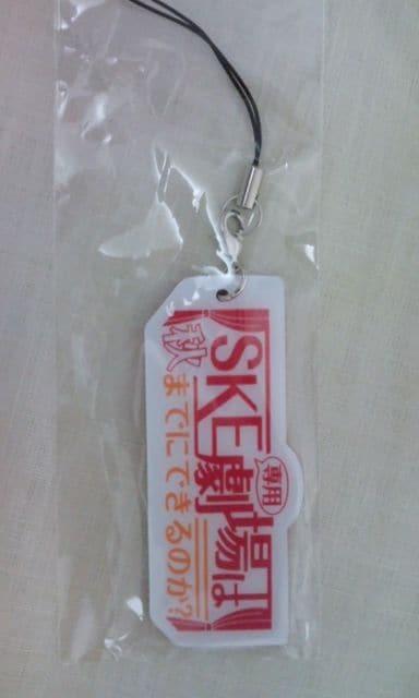 SKE48 春コン 2012 「SKE専用劇場は秋までにできるのか?」ストラップ  < タレントグッズの