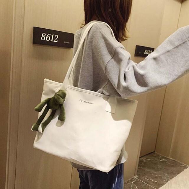 TB106即決 新品 トートバッグ エコバッグ 白 サマンサ ピンキー 好きに  < 女性ファッションの