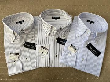 長袖ワイシャツ新品 ストライプG 3枚セット Mサイズ