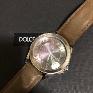 1スタ 稼働品☆ ドルチェ&ガッバーナ シルバー 腕時計