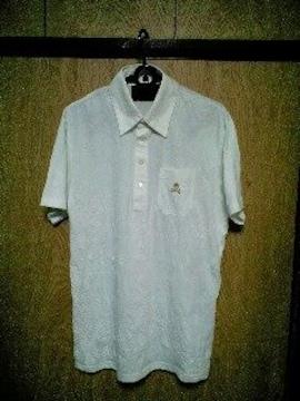 新品Roenロエン スカル刺繍皺加工ポロシャツ 48