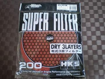 HKS スーパーパワーフローフィルター 交換用 200φ レッド