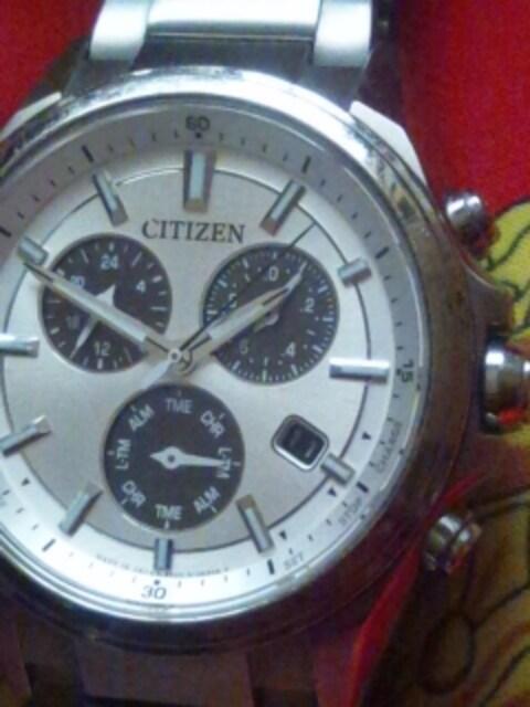 シチズンエコドライブソーラー腕時計クロノグラフチタンフルメタル日本製  < ブランドの