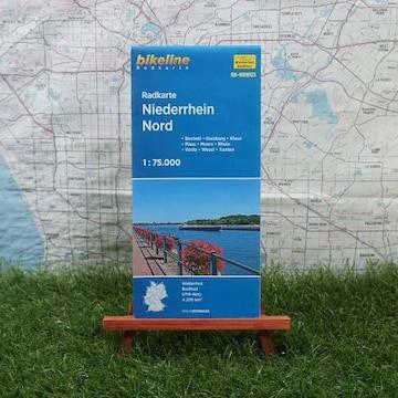 新品【輸入地図】ライン川下流域 ドイツ北部 Radkarte