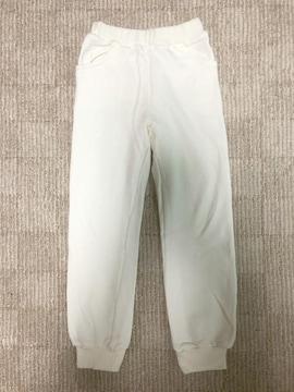 新品未使用男女兼用キッズスウェットパンツ白ホワイトサイズ120cm