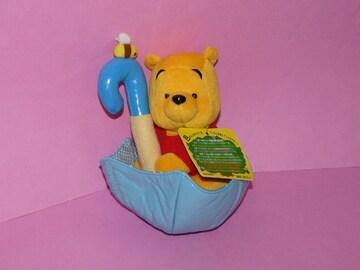 ディズニーストア 傘に乗ったプーさん ぬいぐるみ