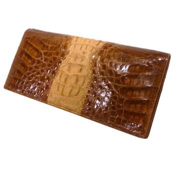 クロコダイル ワニ革 カイマン背鰐SAW-102-BRブラウン