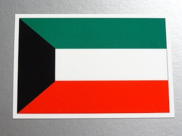 1■クウェート国旗ステッカー1枚 シール ☆即買!■
