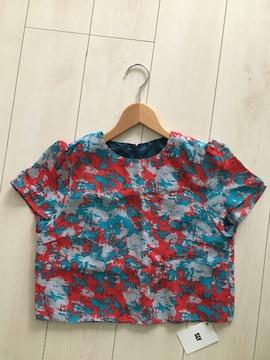 新品タグ付 SLY スライ 半袖 トップス シフォン tシャツ 柄物