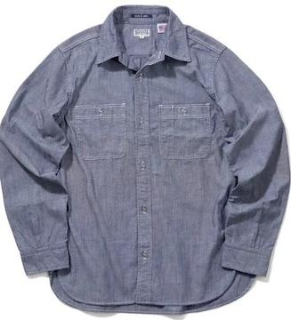 Houston/USAシャンブレーシャツ/40640/ワークシャツ